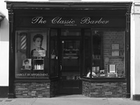 The Classic Barber shop front in Hertford